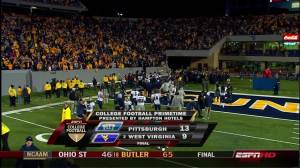 2007 Pitt Backyard Brawl Final Score